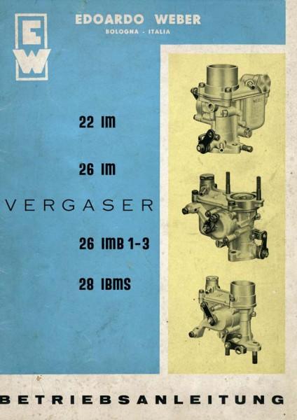 Reparaturanleitung Weber 28 Stand 1960