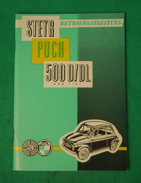 Betriebsanleitung 500D, 500DL, Stand 1960