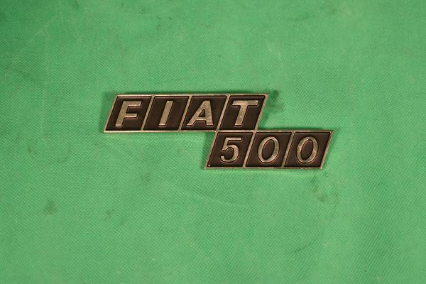 """Heckschriftzug """"Fiat 500"""" F/R Metall"""