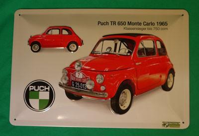 Blechschild Puch 650 TR, Monte Carlo