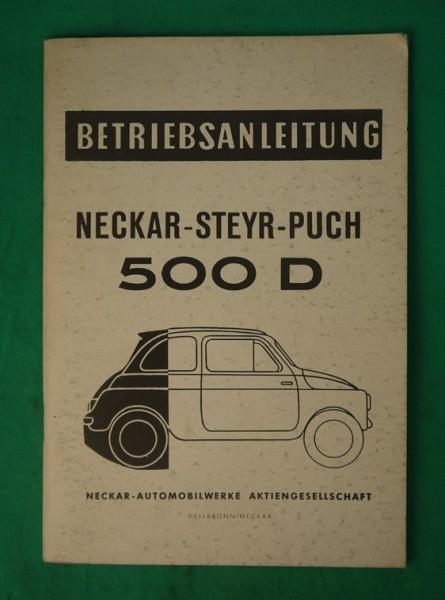 Betriebsanleitung Neckar-Puch, Kopie, Stand 1960
