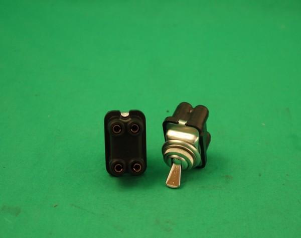 Klippschalter 4-polig chrom