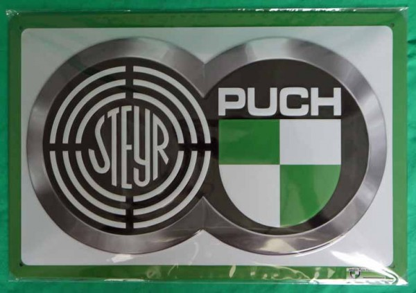 Blechschild Steyr-Puch