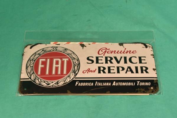 Blechschild Fiat Service