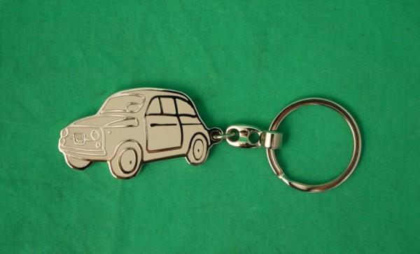 Schlüsselanhänger Fiat 500 massiv