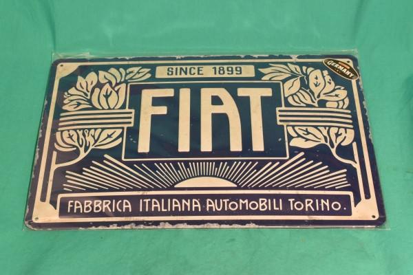 Blechschild Fiat Vintage
