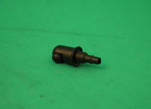 Spritzdüse Kunststoff, schwarz, 18mm hoch