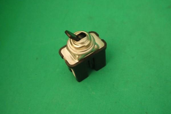 Lichtschalter (ab 68) 3-polig Chromrand, schw. Wippe