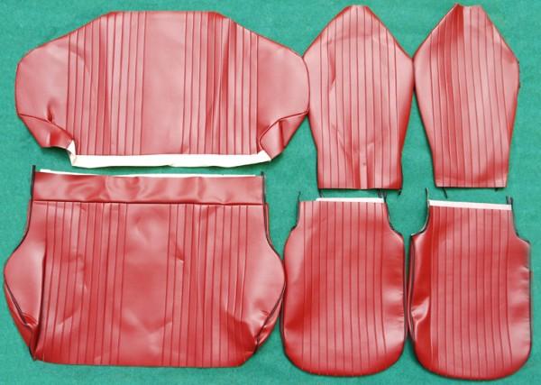 Sitzbezugsatz komplett, SKY rot, Premium