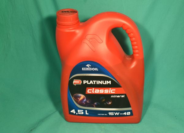 Motoröl Platinum Classic 15W-40 4,5 Liter