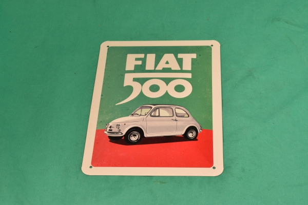 Blechschild Fiat 500 Tricolore
