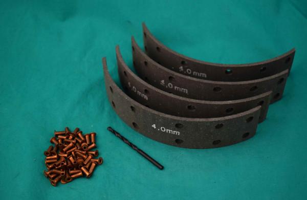 Bremsbelagkit Haflinger Std Maß 4mm