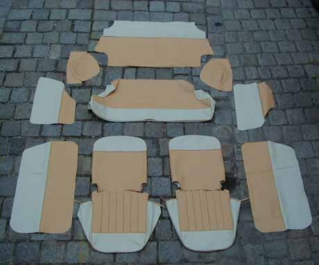 Sitzbezugsatz PKW komplett, Liegesitze, 12-teilig